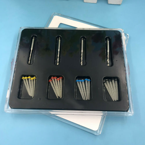 20Pcs Dental High-intensity Quartz screw Pile Fiber Resin Post +4 Drills postes de fibra