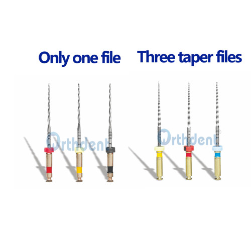 3Pcs/Pack Dental Only One File / Three Taper Files Endodontic Instruments Dentist Tools Assorted 21/25 MM