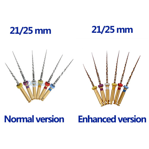 6Pcs/Set Dental Files Niti Rotary Super File Root Canal Engine Use Normal/Enhanced Version Assorted Size SX-F3 21/25 Mm