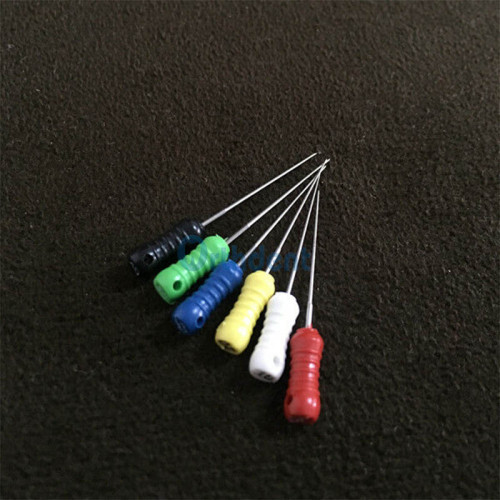 6Pcs /Box Dental Spreaders /Orthodontic Pluggers 21/25 Mm #15-40 Stainless Steel Dental Endo Hand Files