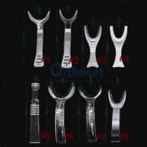 8Pcs/Set Dental Mouth Opener Intraoral Cheek Retractor Lip Double-Head T Y Shape Expander