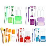 8Pcs Set Dental Teeth Orthodontic Care Kit Oral Cleaning Brush Floss Thread
