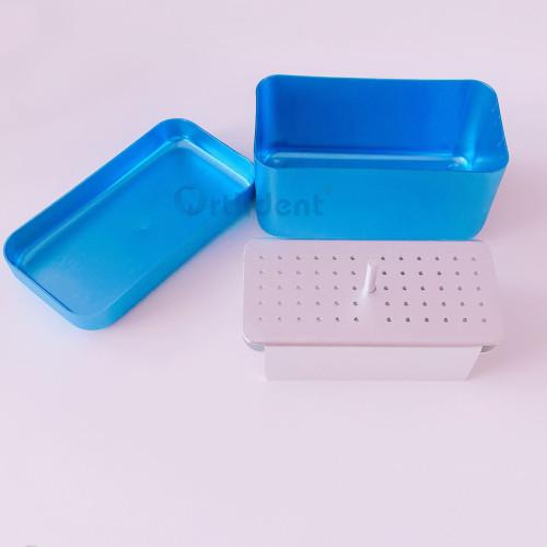 60Holes Autoclave Case Dental Endo Files Burs Burr Holder Disinfection Box