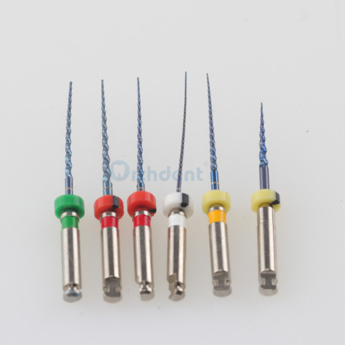 6 PCS/Pack Dental Heat Activation Heat Activated M3 Pro system arge taper root canal files super files