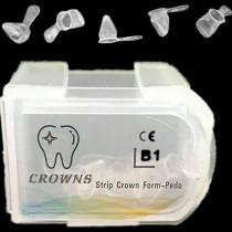 5Pcs/Set Dental Transparent Crowns Form Anterior Strip Teeth Crown For Kids