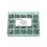 1000Pcs Dental Orthodontic Bracket Metal Braces Dental Monoblock Standard Roth 022 345 hooks Sandblasting monoblock Base