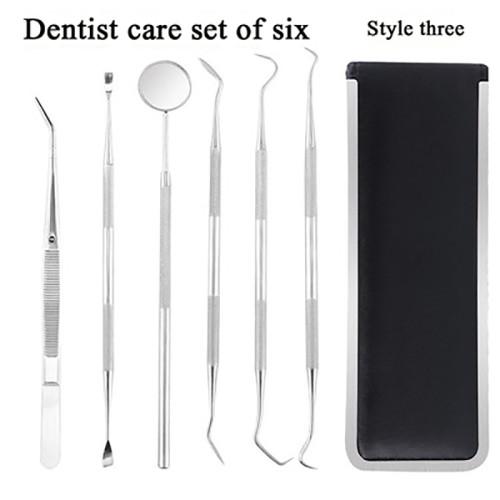 1 Set Dentist Tools Oral Endoscopy Instruments Probes Tooth Scrapers Tweezers Dental Care Dentist Sets
