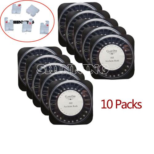 10Pack Dental Orthodontic Class One MINI Ceramic Brackets Braces 5*5  4 Models