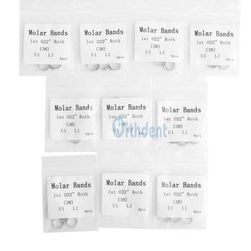 10Kits Dental Orthodontic Roth 022 1st Molar Buccal Tube Bands Single/ Triple