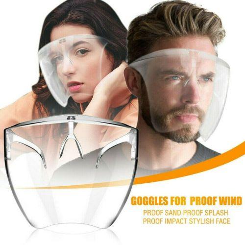 2021 NEW Face Shield Protective Facial Cover Transparent Glasses Visor Anti-Fog