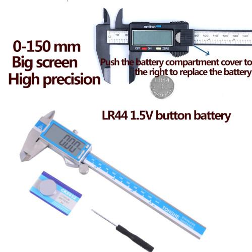 1 Pc Dental Vernier Calipers Electronic Caliper Micrometer Digital Ruler Measuring Tools 0-150mm