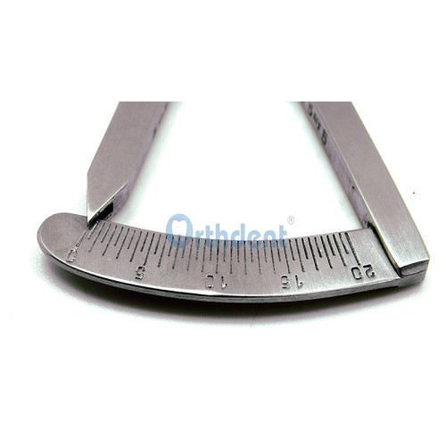 Dental Measuring Gauge Calipers Castroviejo Bone Caliper Implant Orthodontic Ruler Stainless Steel Curved & Straight
