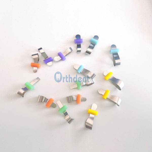 20 Pcs/Box Dental Forming Sheet Contoured Metal Matrix Bands Automatrix Locking Latch