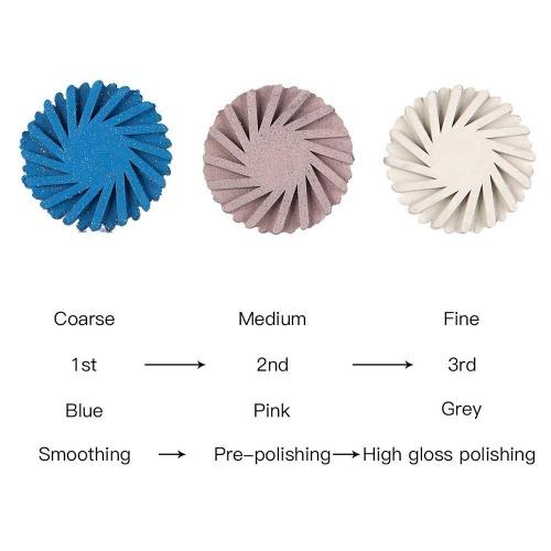 6 Pcs/Box Mixed Dental Composite Resin Polishing Disc Kit Spiral Brush Burs Rubber Diamond Polisher 2 orders