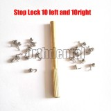 20Pcs Dental Orthodontic Removable Crimpable Hook Stop Locks Left + Right With Tool+Gold Tool
