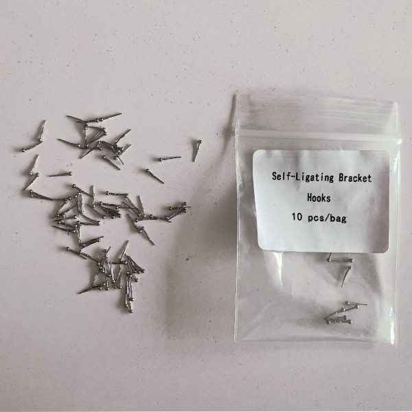 10 Pcs/Bag Dental Self-Ligating Bracket Hooks Orthodontic Crimping Hook Bracket Accoressies Dentist Matrials