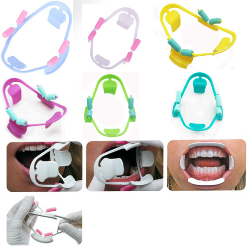 10Pcs Dental Oral Cheek Retractor Intraoral Opener Silicone Mouth Prop Guard Plastic Large and Small Size