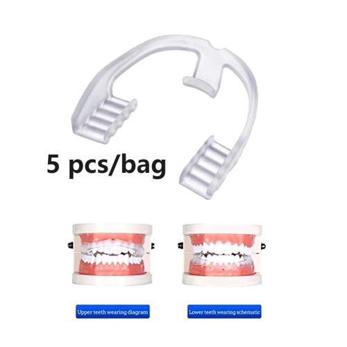 5Pcs/Bag Dental Silicone Teeth Guard Sleep Anti-molar Braces for Teeth Grinding Stopping Bruxism
