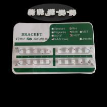 20 Pcs/Pack Dental Ceramic Brackets Braces Mini Roth/MBT 022 Hooks 345