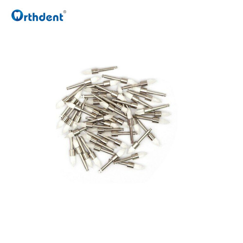 100 Pcs/Box Dental Nylon Polishing Brush Color Pointed Head Dentistry Brushes for Contra Angle Dentist materials