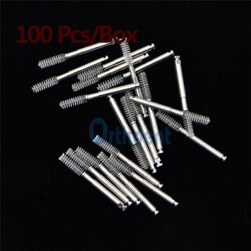 100Pcs/Box Dental Root Canal Cleaning Brush Dentist Tools Dental Lab Materials