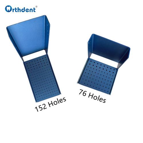Orthdent Dental Burs Holder Blocks Autoclavable for polishing brush high low speed cup bur Block 76/152Hole Portable Dental Unit