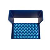 40Holes Dental Silicone Bur Holder Autoclave Endo Disinfection Box Anti Falling
