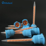 50Pcs/Set 1:1 Dental Impression Mixing Tips Syringe Mixing Head Disposable Tube Silicone Rubber Mixing Tip Dentistry Tool