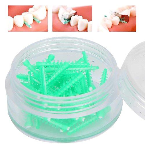 Orthdent 40Pcs/Box Dental Interdental Wedges Disposable Dental Adaptive Silicone Interdental Wedge Matrice Matrix Dental Cabinet