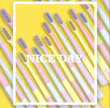 Orthdent 8 Pcs/Box Macaron Ice Cream Superfine Toothbrush Super Soft ToothbrushDeep Cleaning Brush With Holder Oral Care Tools Dental Supply