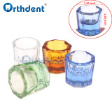 Orthdent 12Pcs/Set Dental Glass Dishes Tiny Mixing Bowl Glassware Octagonal Mixing Cups Reconcile Cup For Dental Lab Materials
