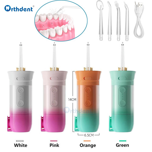 Oral Irrigator Portable Dental Flosser Teeth Whitening 200ml Waterproof Teeth Cleaner Smart 4 Nozzles Dental Scaler Cleaning