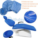 4Pcs/Set Dental Chair Cover Unit PU Leather Seat Elastic Waterproof Protective Protector Dental Equipments Dentist Chair Tools