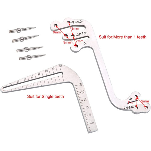 Dental Implant Surgery Instrument Oral Planting Locator Positioning Guide Drilling Angle Ruler Dentist Orthodontic Implant Tools