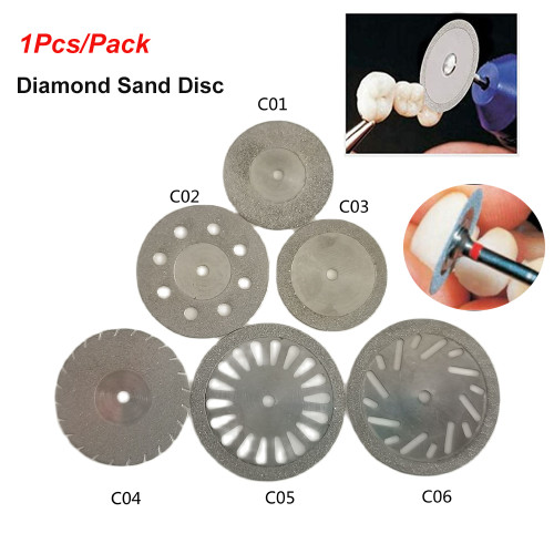 1Pcs/Pack Dental Cutting Disc Ultrathin Double Sided Sand Diamond with Mandrel Separating Polish Ceramic Dentistry Lab Materials Tools