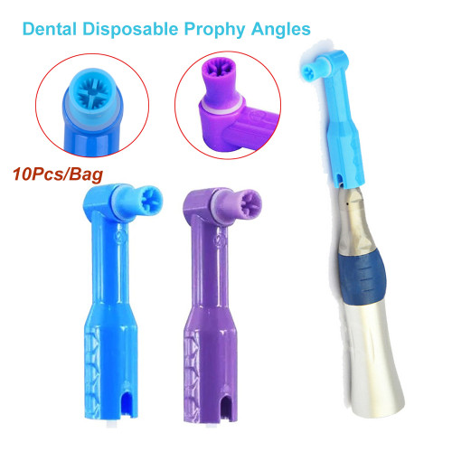 Orthdent 10 Pcs/Bag Disposable Dental Prophy Angles Soft Cup Latex Free Straight Handpiece Dentistry Materials Polishing Tools