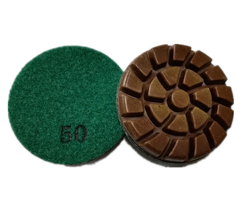 3-inch DRY Diamond Polishing Pads for Concrete Floor-Spiral Style-DRY Polishing-Professional Quality