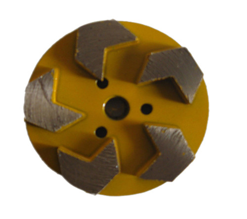 3-inch Metal Diamond Floor Grinding Discs with 5 Arrow Segments–Velcro Backed
