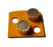 Polar Magnetic Grinding Head - Double Round Segments