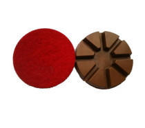 3-inch Copper Resin Floor Polishing Pad-Pie Style, DRY Use