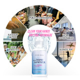 Instant Hand Sanitizer Gel Travel Size 55 ML 1.86oz