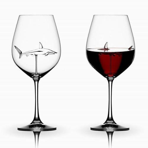 The Original Shark Wine Glasses - Handmade Crystal