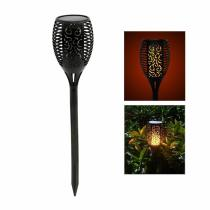 96 LED Waterproof LED Solar Path Torch Light Dancing Flame