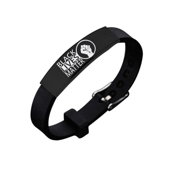 BLACK LIVES MATTER Stainless Steel Silicone Bracelet (IT'S TIME FOR CHANGE!)