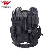 YAKEDA Police Military Tactical Vest Wargame Body Armor Sports Wear Hunting Vest CS Outdoor Products Equipment with 5 Colors