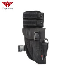 Yakeda Universal Tactical Leg Holster With Magazine Pouch Fully Adjustable And Removable-KF-070