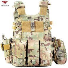 Yakeda Multicam Camouflage Molle Nylon Modular Vest Tactical Vests Outdoor Hunting 6094 Vests Military Men Clothes Army Vest