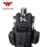 YAKEDA Military Tactical Vest Police Paintball Wargame Wear MOLLE Body Armor Hunting Vest CS Outdoor Products Equipment Black