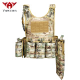 yakeda army swat military army laser cut molle bulletproof plate carrier assault shooting tactical vest