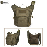 Outdoor tactical chest bag, men's multi-functional military camouflage cycling cross-body bag, one-shoulder backpack
